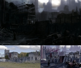 Matte Painting development