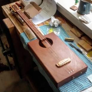 Mahogany 3 string guitar