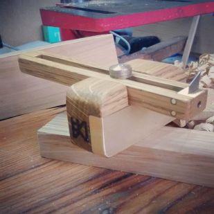 White Oak and brass cutting gauge