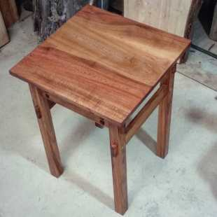 Sheoak and Rimu end table