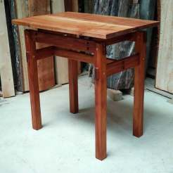 Sheoak and Rimu end table